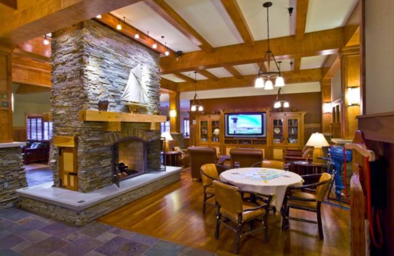 Lobby at Tamarack Lodge.