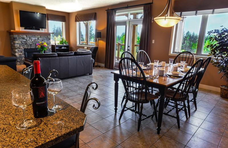 Guest kitchen at Bighorn Meadows Resort.