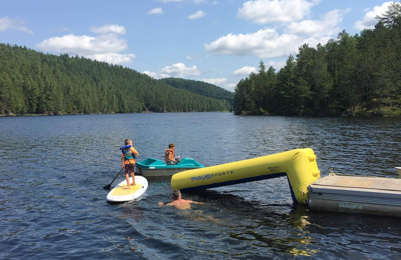 Lake activities at Mattawa River Resort.