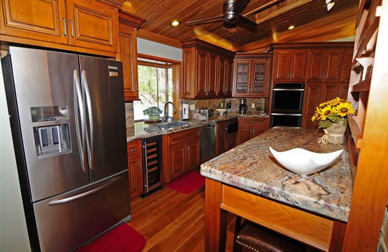 Rental kitchen at Chalet Village.