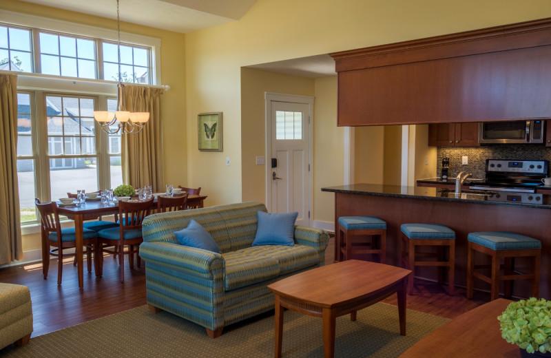 Guest living room at Massanutten Resort.