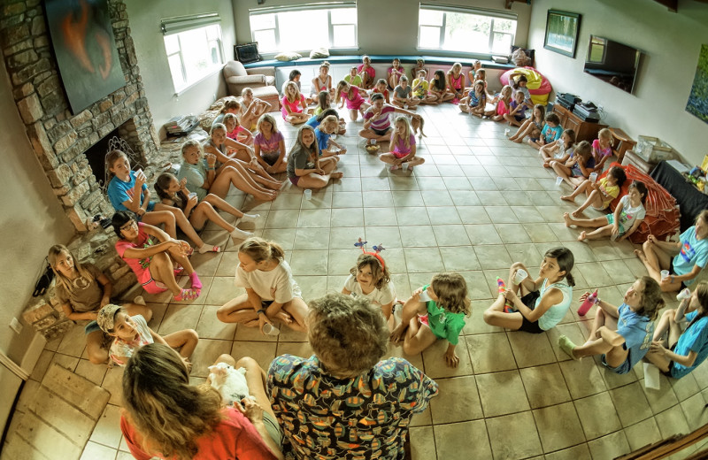 Girls cabin at Camp Champions on Lake LBJ.
