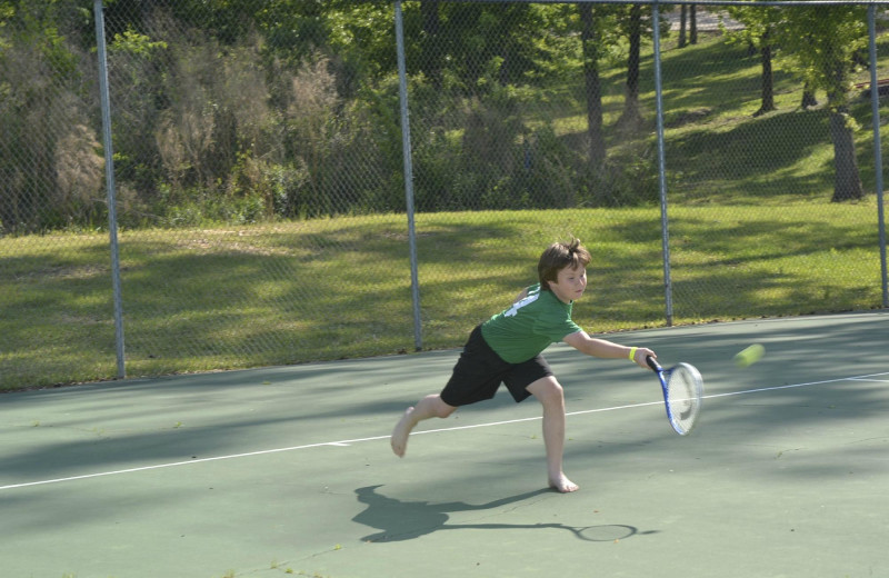 Tennis at Yogi on the Lake.