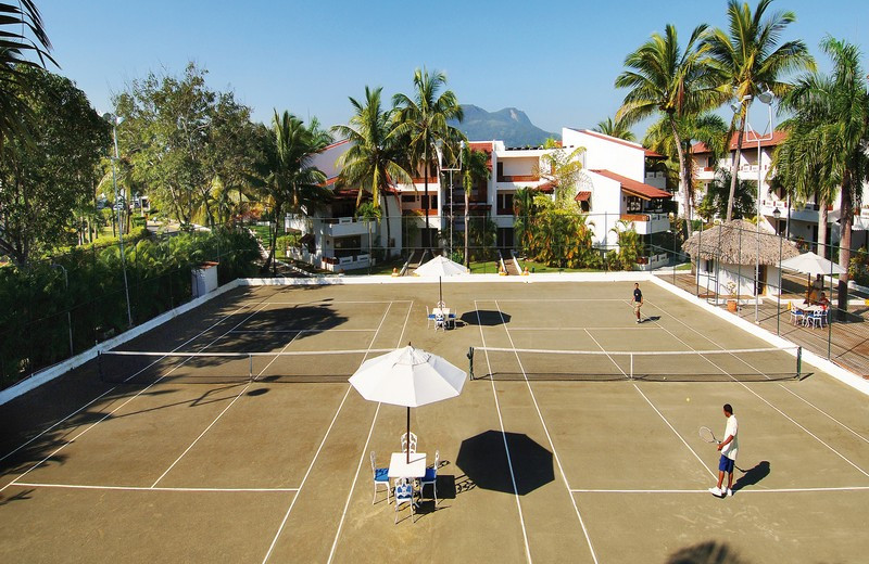 Tennis Court View at Barcelo Puerto Plata