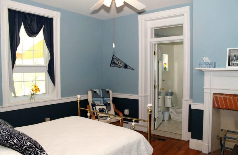 Guest room at Limestone Inn Bed & Breakfast.