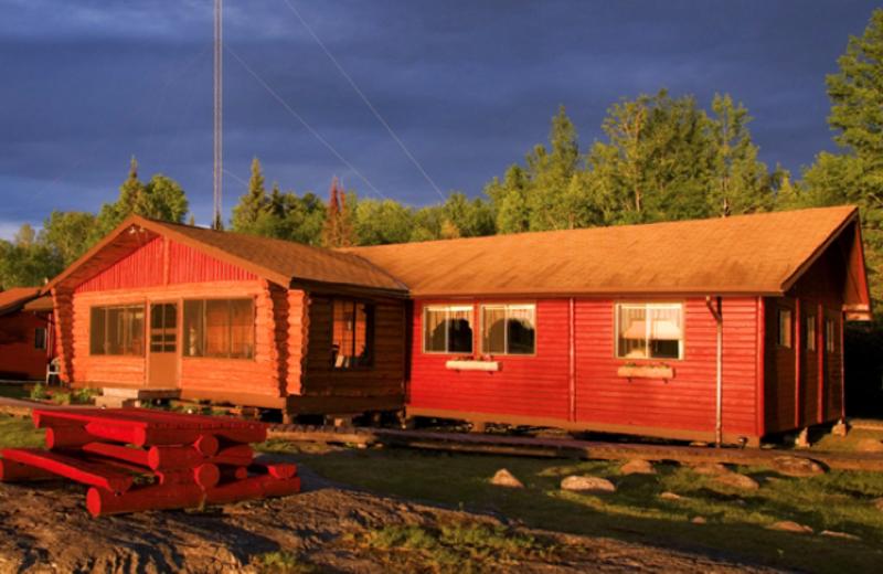 Main lodge at Uchi Lake Lodge.