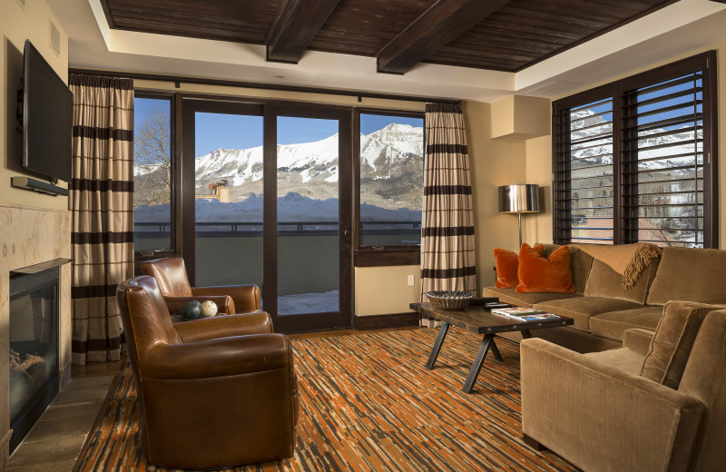 View from a one bedroom suite at Lumiere Hotel in Telluride