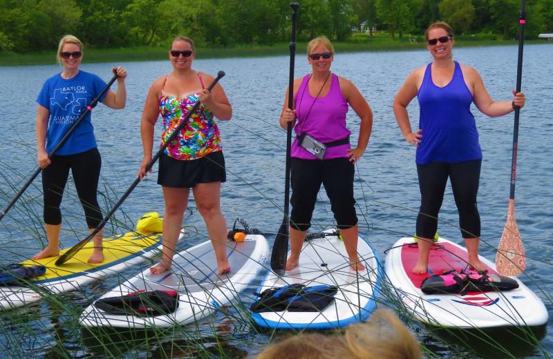 Paddle board at Woodland Resort.