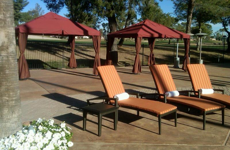 Pool chairs at Scottsdale Resort & Conference Center.