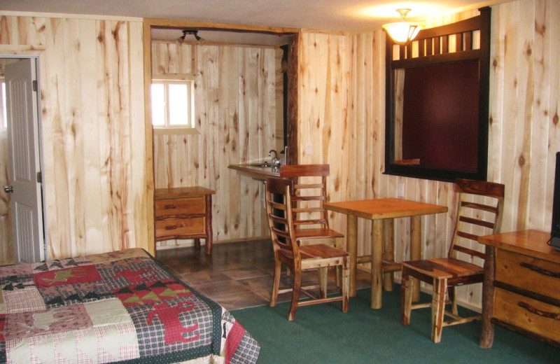 Motel room at Big Rock Candy Mountain Resort.