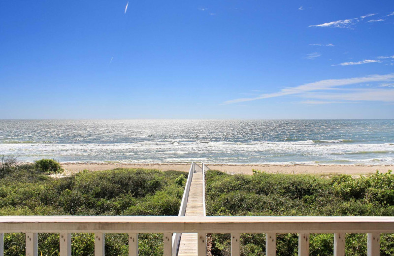 Rental beach view at Resort Vacation Properties of St. George Island.
