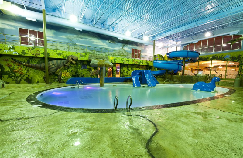 Indoor pool at Victoria Inn Hotel & Convention Center.