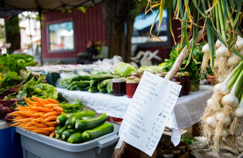 Farmer market at The Lodge at Arrow Lakes.