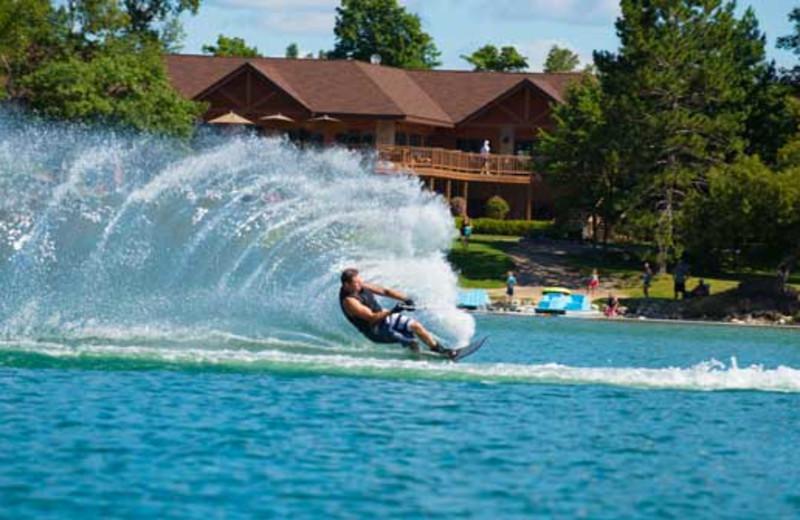 Water activities at Sugar Lake Lodge.