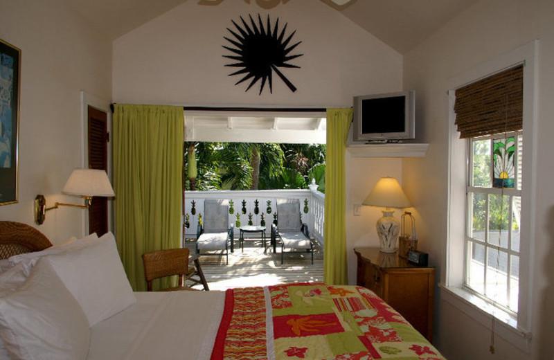 Guest bedroom at Tropical Inn.
