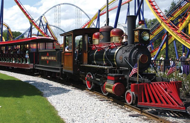 Train ride at Cedar Point Resort.
