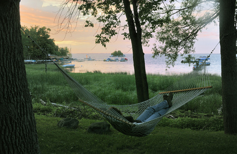 Relax in a hammock at Tyler Place Family Resort.