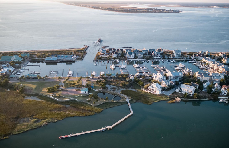 Aerial view of Bald Head Island Limited.