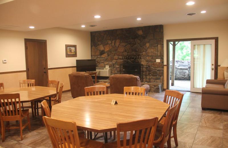 Guest living room at Gaston's White River Resort.