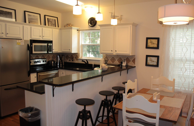 Rental kitchen at Seagrove On The Beach Property Rentals.