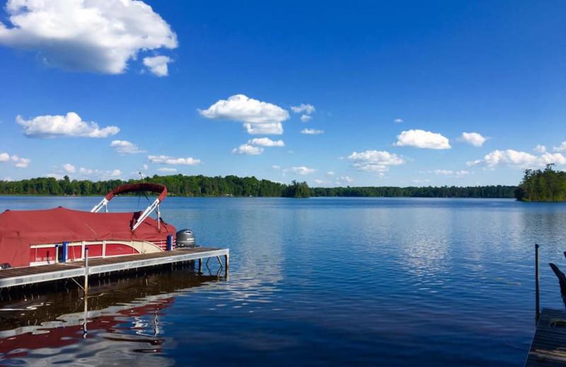 Lake view at Spider Lake Lodge Bed