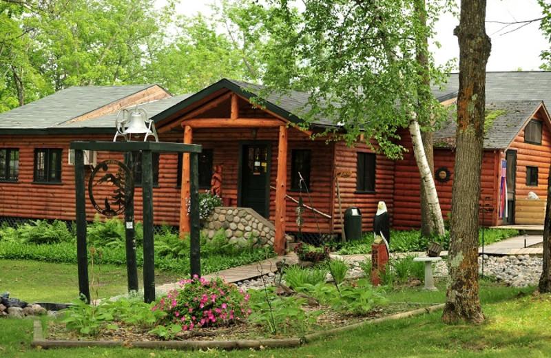 Lodge exterior at Cedar Point Resort.