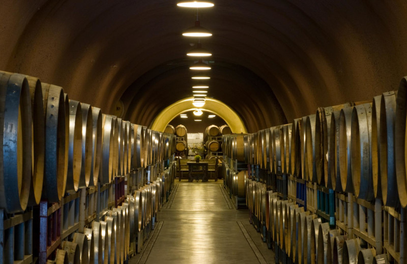 Wine barrels at Deerfield Ranch.