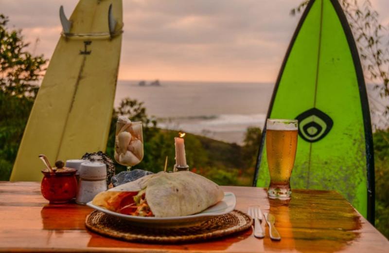 Dining at Finca Punta Ayampe Beach Ecolodge.