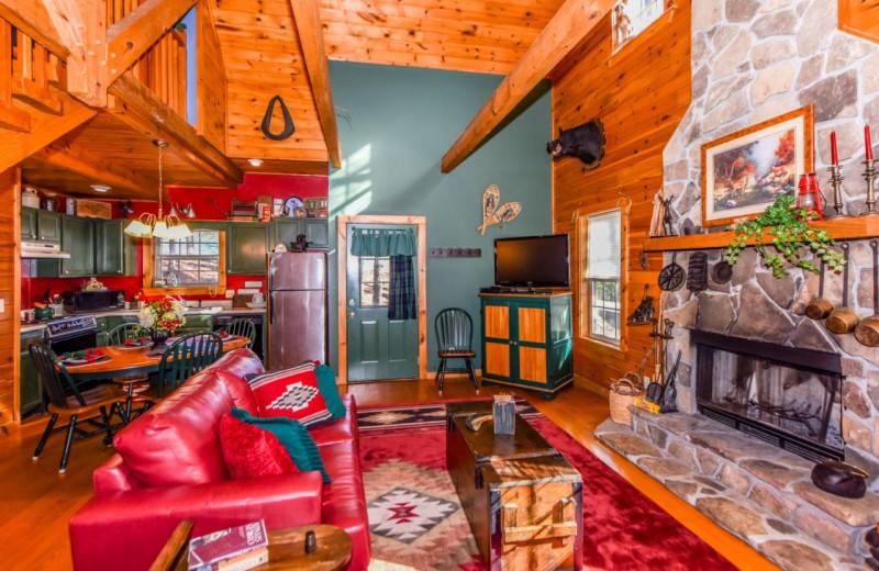 Cabin interior at Dogwood Cabins LLC.