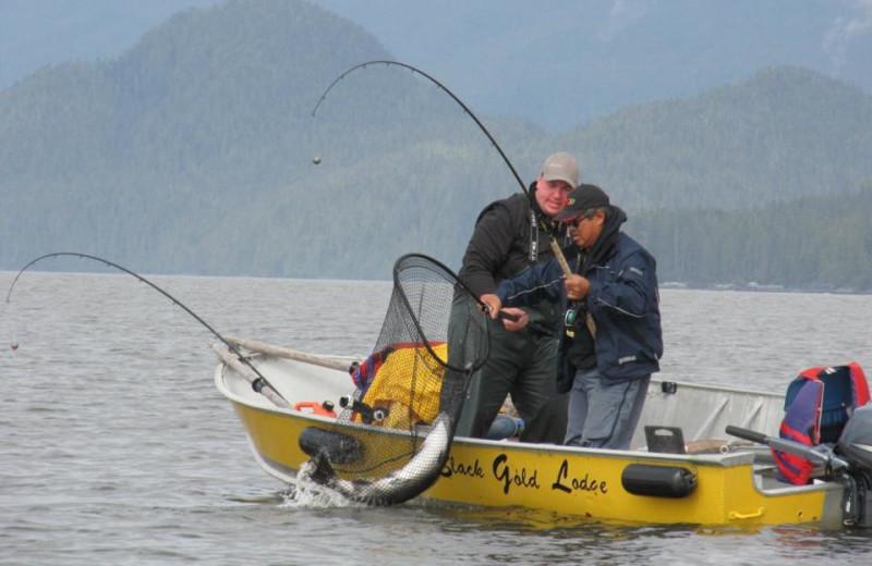 Fishing at Black Gold Lodge
