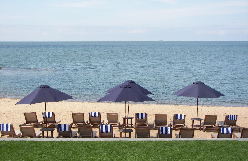 The beach at Madison Beach Hotel.