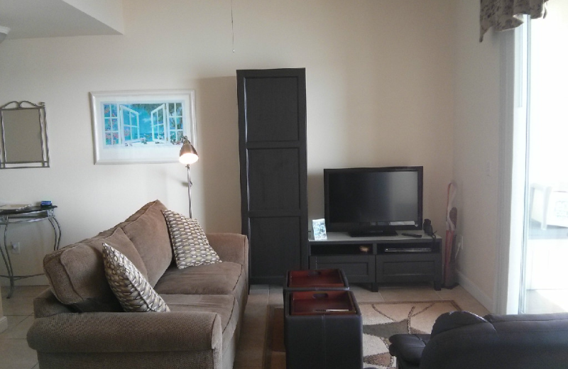 Rental living room at Boca Ciega Resort.