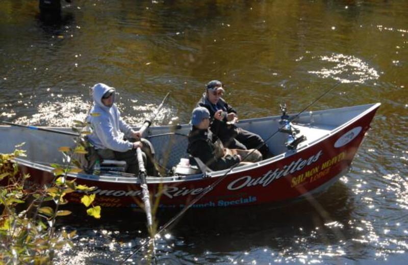 Boating at S & J Lodge.