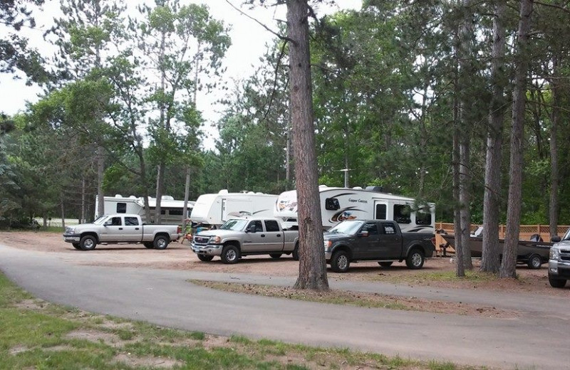 RV camping at Sand Lake Resort.