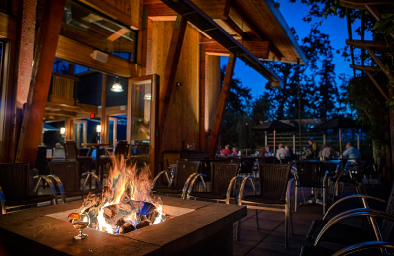 Seagrille Fire Pit at Brentwood Bay Lodge