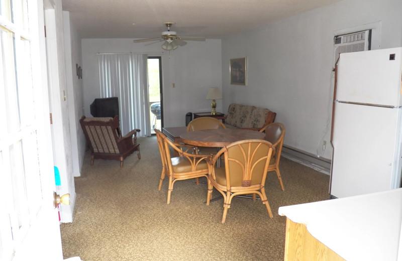 Cabin interior at Runaway II Resort and Campground.