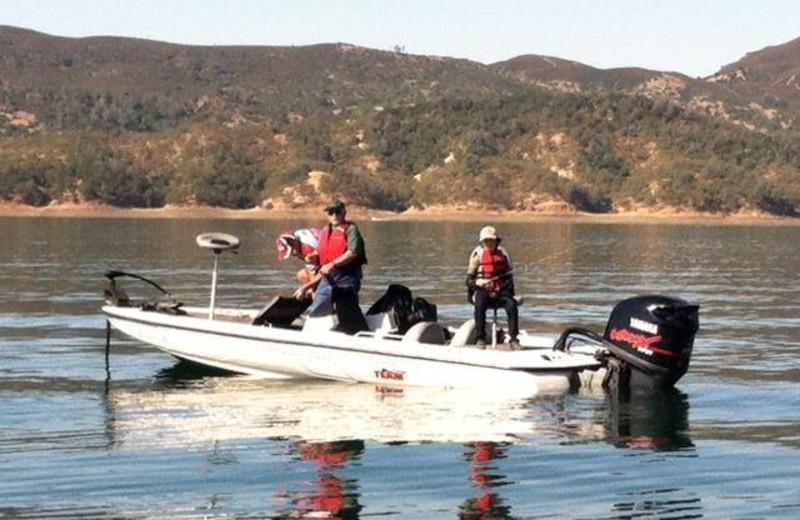 Boating at Pleasure Cove.