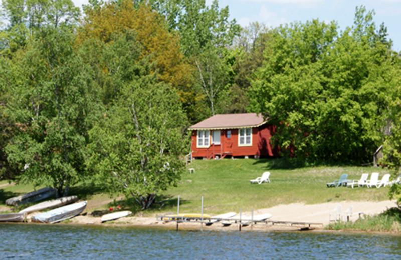 Cabin exterior at Birch Bay Resorts.