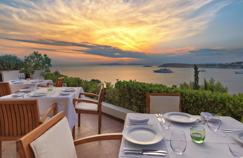 Dining at Astir Palace Resort and Hotels.