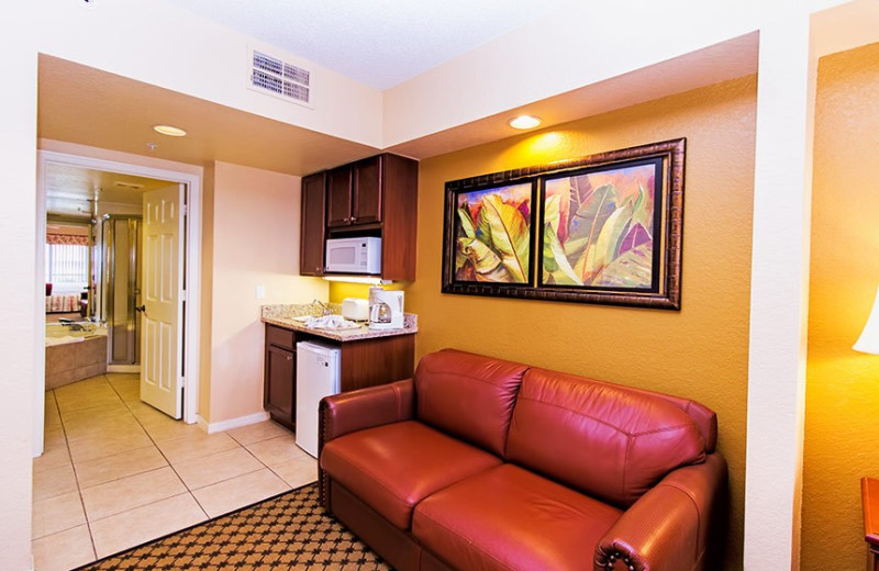Guest living room at Westgate Lakes Resort & Spa.