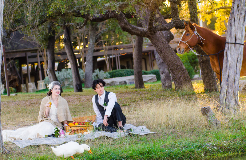 Wedding couple at The Retreat at Balcones Springs.