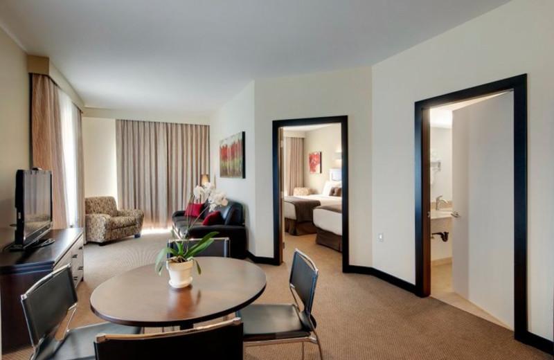 Guest room at Berlin Grande Hotel.