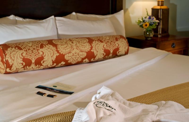 Guest accommodations at The Otesaga Resort Hotel.