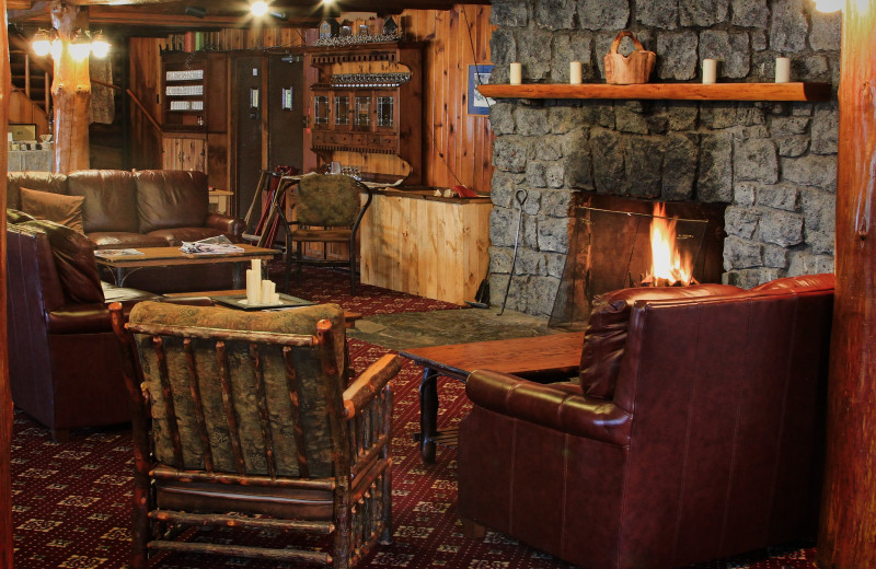 Lobby at Garnet Hill Lodge.