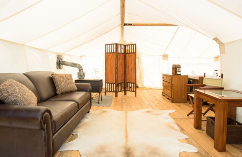Tent suite at Grand Canyon Under Canvas.