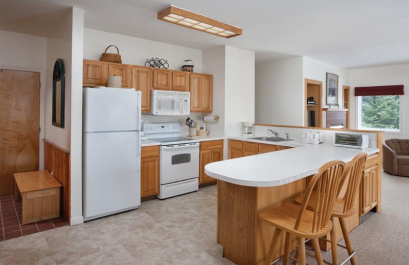 Rental kitchen at Smugglers' Notch Resort.