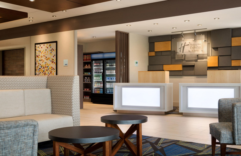 Lobby at Holiday Inn Express & Suites Madison.