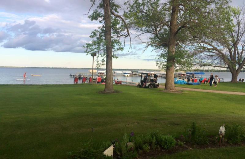 Lake view at Bladow Beach Resort & Campground.