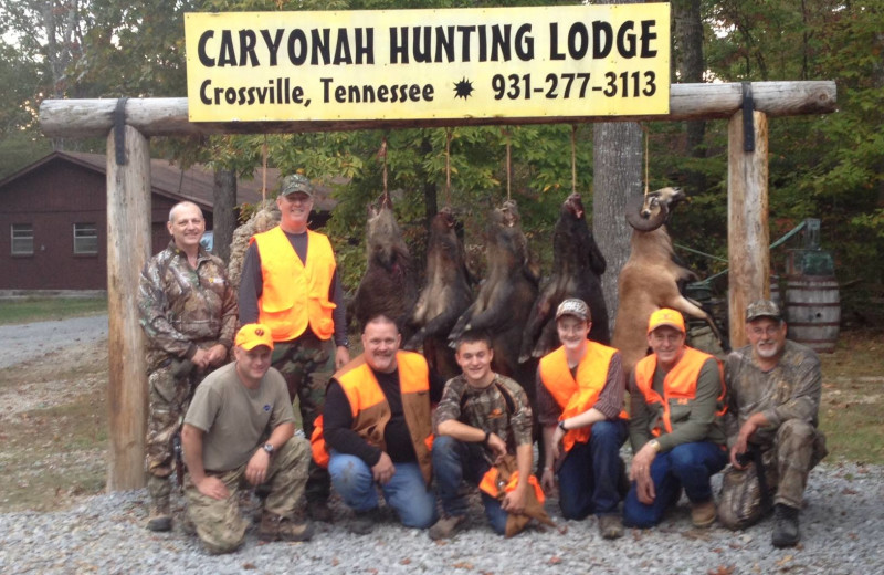 Hunting group at Caryonah Hunting Lodge.