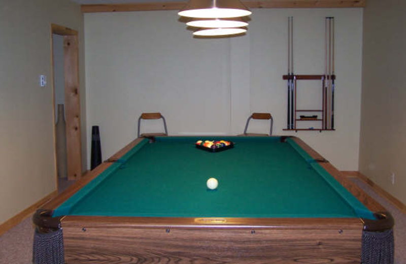 Billiard room at Myers Cave Resort.